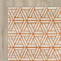 Bring life to any space with the Ginsberg Light Gray & Burnt Orange Area Rug. A bold geometric pattern with a simple yet alluring color scheme make this rug a timeless accent. Orange Rugs, Orange Area Rug, White Area Rug, Beige Area Rugs, Orange Nursery, Bedroom Orange, Contemporary Area Rugs, Modern Area Rugs, Burnt Orange Living Room