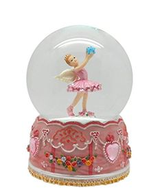 Lightahead Angel Ballerina Music Water Snow Globe Ball with Inside Figurine Rotating playing tune Table Top Decoration (Ballerina Standing)