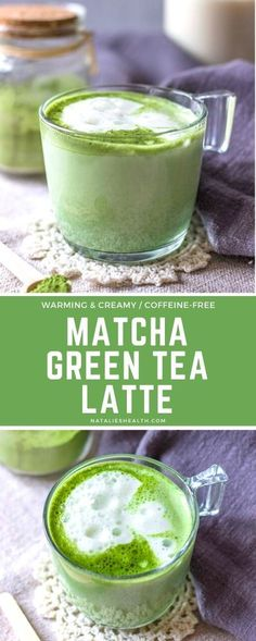 Matcha Green Tea Latte is cozy drink perfect for cold mornings. This creamy antioxidant-rich drink will wake you up nicely and boost your mood. It& dairy-free and made without added sugars. Brownie Desserts, Oreo Dessert, Mini Desserts, Tea Recipes, Real Food Recipes, Drink Recipes, Delicious Recipes, Coffee Recipes, Breakfast Recipes