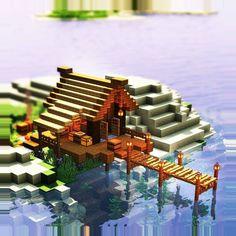 Lego Minecraft, Construction Minecraft, Skins Minecraft, Cute Minecraft Houses, Minecraft Plans, Minecraft House Designs, Minecraft Survival, Amazing Minecraft, Minecraft Blueprints