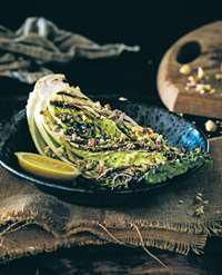 Rainbow Gospel Radio   Barbecued wombok with hazelnuts, blue cheese and anchovy vinaigrette