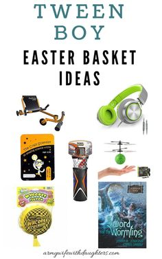 Easter basket ideas for tween boys - army woman with daughters # army # basket # boys . Easter Basket Ideas for Tween Boys – Army Woman with Daughters # Army # Daughters Boys Easter Basket, Easter Baskets, Gifts For Wife, Gifts For Boys, Dyi Gift Baskets, Science Tricks, Easter Crafts For Kids, Easter Ideas, Boyfriend Crafts