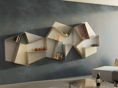 Open wall-mounted #bookcase SLIDE | @lagofurniture
