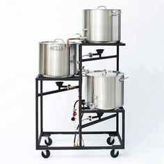 Love This : Professional Three Tier All Grain Brewery Rack (10 gal or 5 gal) - Raw steel unpainted #homebrewingsetup