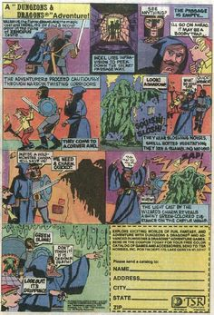 Dungeons and Dragons comic book advertisements - Page 1 of 8 Loved these as a kid. I actually followed them like a comic book