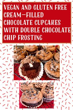 Chocolate Chip Frosting, Chocolate Cupcakes, My Recipes, Gluten Free Recipes, Whole Food Recipes, Chocolate Lovers, Plant Based, Treats, Vegan