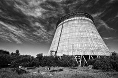 Unfinished nuclear reactor cooling tower (2) - Chernobyl, Ukraine - May 2012