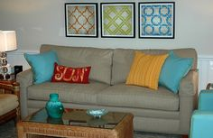 colorful pillows:) and colorful rooms