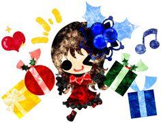 フリーのイラスト素材クリスマスと女の子の可愛いイラスト -嬉しいプレゼント-  Free Illustration The cute illustration of Christmas and a girl -Wonderful presents-   http://ift.tt/2frFY1W