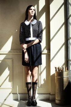 Black dress Collar dress Party dress Formal dress by ilovemona, $69.00