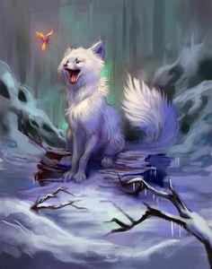 fox arctic fantasy cartoon drawing artstation anime