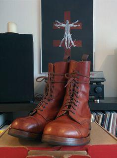 Vintage William Lennon cap toe derby boots.