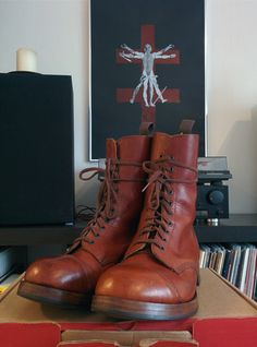 Vintage William Lennon cap toe boots.