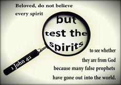 1 John 4:1   by joshtinpowers Bible Verses About Faith, Faith Scripture, Bible Verses Quotes, God Loves Me, Jesus Loves, 1 John 4, Gods Not Dead, Christian Faith, Names