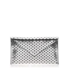 J.Crew STATIONERY #CLUTCH IN PERFORATED METALLIC LEATHER