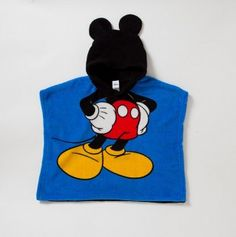 Mickey Toddler Hoodie Poncho-  Awe Gavin would love this