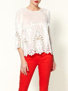 red. want the pants. could do without the top.