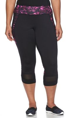 Plus Size Tek Gear® DRY TEK Capri Workout Leggings -- Find out more about the great product at the image link.