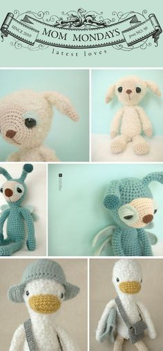 """Seriously cute crotchet cuddlies"" #crochet"