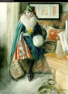 Carl Larsson (May 28, 1853–January 22, 1919) was a Swedish painter and interior designer, representative of the Arts and Crafts Movement. Description from carllarsson.org. I searched for this on bing.com/images