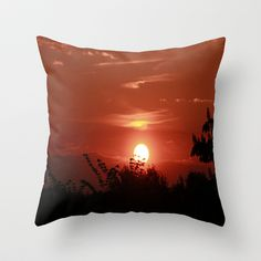Sunrise in May Throw Pillow by Angelika Kimmig - $20.00 Round Beds, Types Of Beds, Photography For Sale, Holiday Sales, Duvet Cover Sets, Framed Art Prints, Wall Tapestry, Gifts In A Mug, Special Gifts