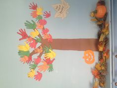My church sunday school tree of thanks! Idea from Pinterest!