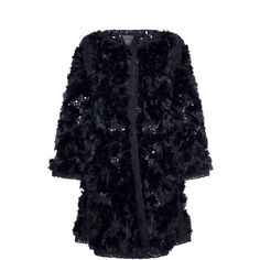 Agnona Romantic Embroidered Flare Coat with Fur (€5.620) ❤ liked on Polyvore featuring outerwear, coats, flare coat, blue coat, embroidered coat, flared coat and agnona