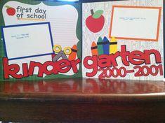 Kindergarten School Pre Made 12 x 12 Double by aSavvyScrapbooker, $13.00