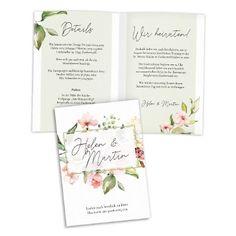 Diese Einladungskarte liegt mit ihren frischen Farben und den Blüten im Aquarell Design absolut im Trend! Die rosa Hochzeitseinladung passt besonders für die Hochzeit im Frühling oder Sommer. Entdeckt jetzt die verschiedenen Formate! Boho Wedding, Rustic Wedding, Apricot Wedding, Greenery, Place Cards, Wedding Invitations, Place Card Holders, Natural, Pink