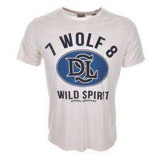 Diesel | Diesel T Joe AG T Shirt Cream | Diesel T Shirts Diesel Polo Shirts Diesel Clothes Stockists Online Mainline Menswear Stockists Of Diesel Clothing Fila Vintage Stone Island Gio Goi Henleys Affliction Blue Blood Lyle and Scott.