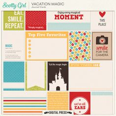 Vacation Magic Journal Cards