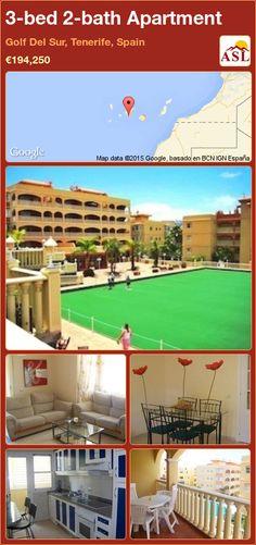 3-bed 2-bath Apartment in Golf Del Sur, Tenerife, Spain ►€194,250 #PropertyForSaleInSpain
