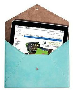 Our new Nubuck Leather iPad Envelope protects your tablet in style and doubles as a sleek, fashionable clutch.