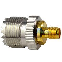 Alta QualityUHF conector SO239 hembra a SMA hembra recto conector Coaxial RF adaptador de conector convertidor