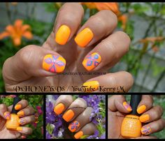 "#nailart #nailpolishaddict #shortnails #neonnails #nailpolish #nailporn #orange #pops Kerry M (@allthingswithkerrym) on ""Check out the step by step nail art video tutorial on my YouTube channel."" Nail Art Photos, Nail Art Videos, Neon Nails, Short Nails, Nailart, Channel, Nail Polish, Orange, Check"