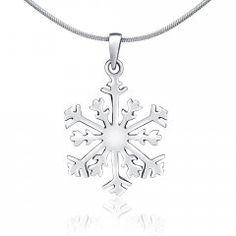 Stříbrný přívěsek - sněhová vločka Silver, Jewelry, Fashion, Moda, Jewlery, Jewerly, Fashion Styles, Schmuck, Jewels
