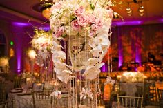 skyscraper tall adds such dimension to any space Diy Wedding, Wedding Cakes, Dream Wedding, Wedding Dreams, Wedding Reception, Reception Decorations, Wedding Centerpieces, Centerpiece Ideas, Floral Centerpieces