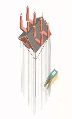 Tom Ngo . Architectural Absurdity | Dreamhouse —arañapatona—