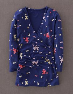 I've spotted this @BodenClothing Wrap Jersey Top Mariner Blue Daisy Rain