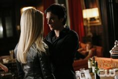 """Break On Through""--LtoR: Claire Holt as Rebekah and Ian Somerhalder as Damon on THE VAMPIRE DIARIES on The CW. Photo: Quantrell D.Colbert/The CW ©2012 The CW Network. All Rights Reserved."