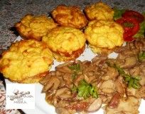 Hidegtálak Hungarian Recipes, My Recipes, Cauliflower, Muffin, Food And Drink, Chicken, Meat, Vegetables, Cooking