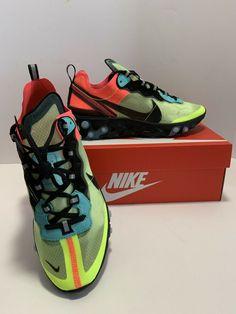 "8df4c2a36196 NIKE Element React 87 ""Hyper Fusion"" Brand New Men s Size 7.5 Nike Running  Aqua"