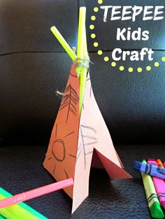 SavingSaidSimply.com - Teepee Kids Craft #kidscraft Creative Arts Therapy, Art Therapy, Teepee Kids, Easy Diy Projects, Project Ideas, Easy Gifts, Toddler Crafts, Craft Activities For Kids, School Projects