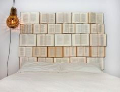 Creative DIY Headboard Of Old Books | Shelterness