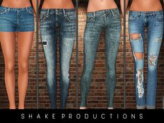 Jeans and denim shorts by ShakeProductions - Sims 3 Downloads CC Caboodle Check more at http://customcontentcaboodle.com/jeans-and-denim-shorts-by-shakeproductions/