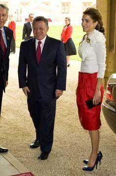 King Abdullah of Jordan and his wife Queen Rania