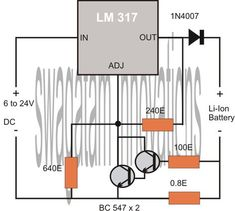 The post explains a simple and safe Li-ion battery charging circuit using temperature compensated charging method. Tractor Battery, Battery Charger Circuit, Battery Logo, Power Supply Circuit, Golf Cart Batteries, Circuit Projects, 18650 Battery, Circuit Diagram, Lead Acid Battery
