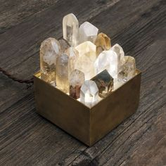 "weloveminerals: ""Found on thedreslyn.com Crystal lamp box """