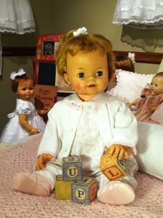 """This is a late 1960's ideal """"Bibsy"""" doll."""