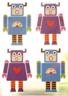 Robot stickers. Given to my daughter for her 5th birthday.